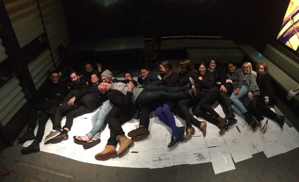 Everybody spooning at the workshop