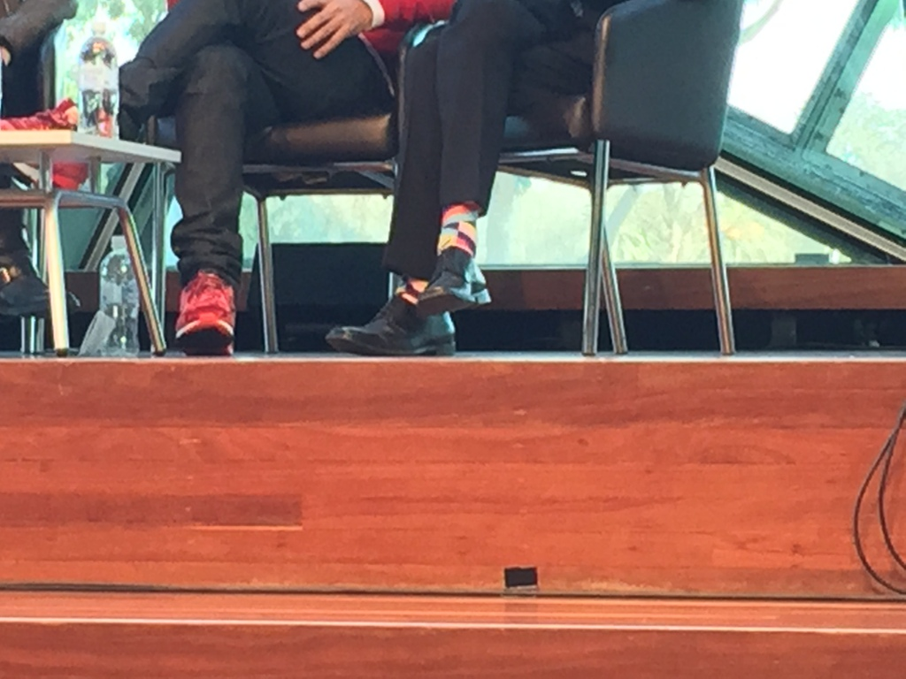 Some strong shoe and sock game by Peter Bennetts and John Gollings