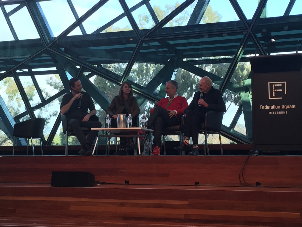 L-R Nic Granleese, Shannon McGrath, Peter Bennetts + John Gollingd